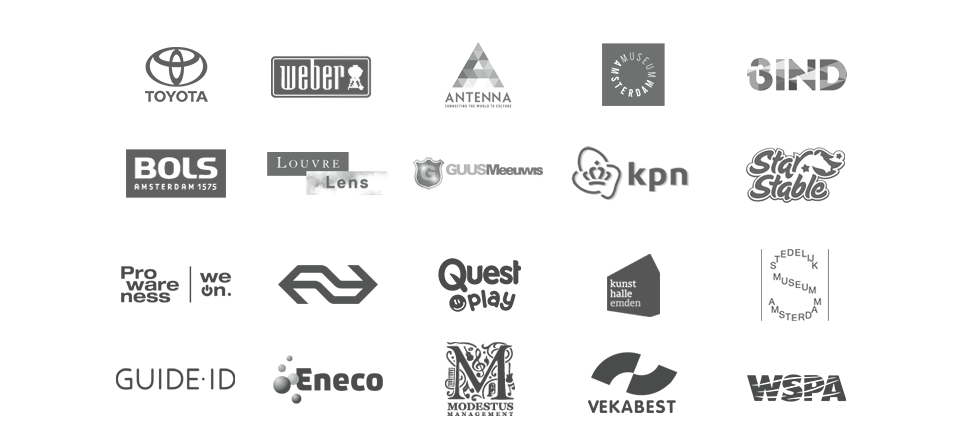 logo's opdrachtgevers van stem en voiceover werk van Studio Hamerkanaal